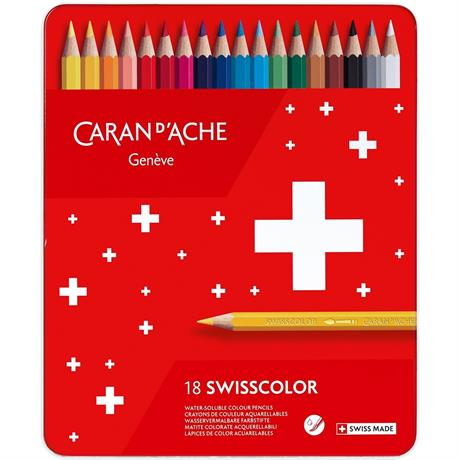 Caran d'Ache Swisscolor Pencils Tin Of 18 Image 1