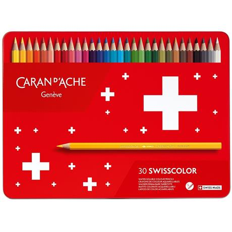 Caran d'Ache Swisscolor Pencils Tin Of 30 Image 1