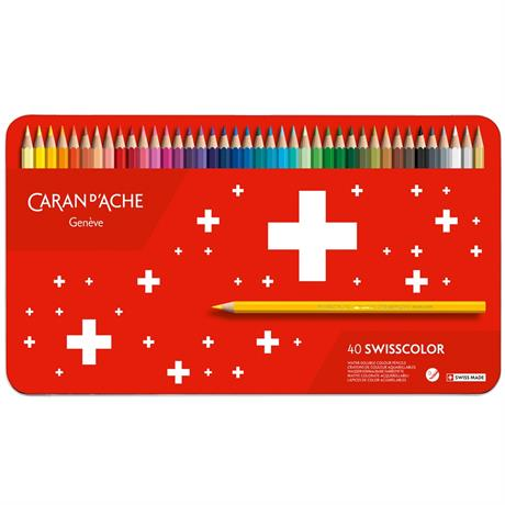 Caran d'Ache Swisscolor Pencils Tin Of 40 Image 1