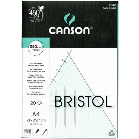 Canson Bristol Board Pads 250gsm Image 1