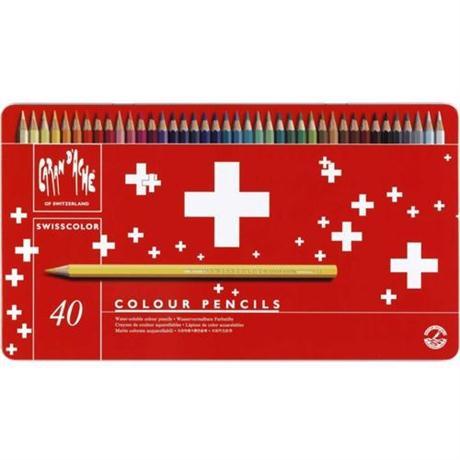 Caran d'Ache Swisscolor Pencils Tin Of 40 Image 1