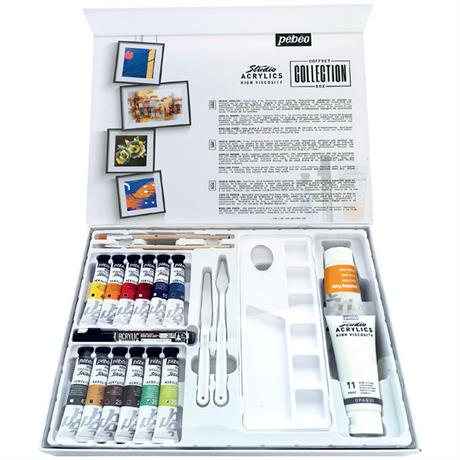 Pebeo Studio Acrylics Collection Set Image 1