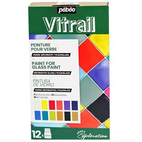 Pebeo Vitrail Explorer Set 12 x 20ml Image 1
