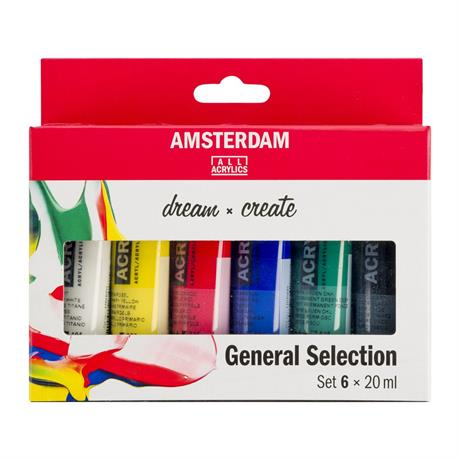 Amsterdam Acrylic General Selection Set 6x20ml Image 1