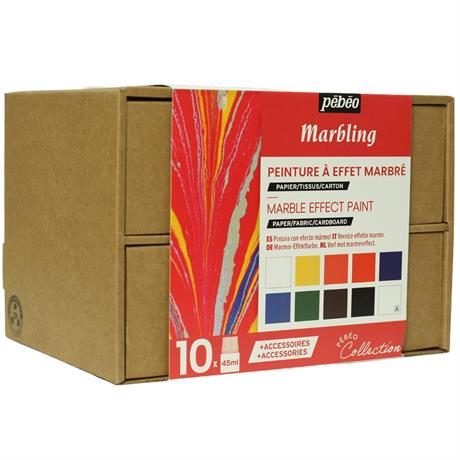Pebeo Marbling Collection Set 10 x 45ml Image 1