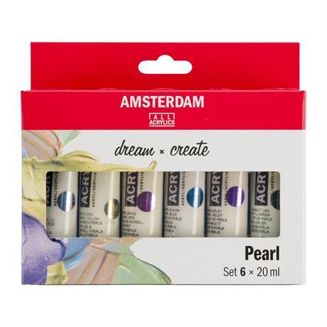 Amsterdam Acrylic Pearls Set 6 x 20ml Image 1