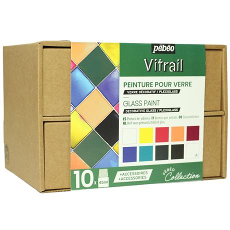 Pebeo Vitrail Collection Set 10 x 45ml Image 1