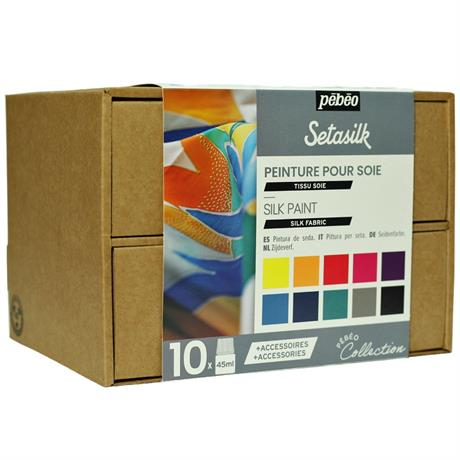 Pebeo Setasilk Collection Set 10 x 45ml Image 1