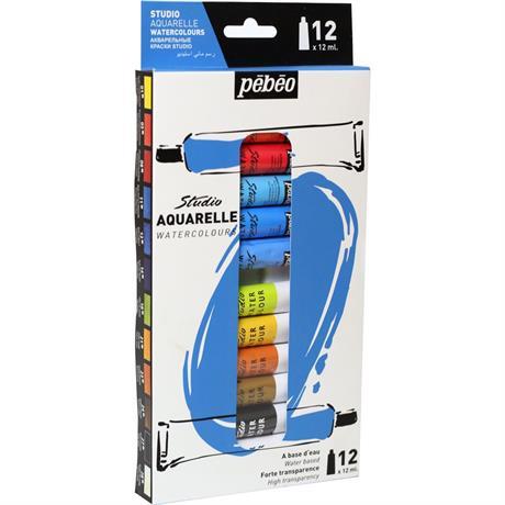 Pebeo Studio Watercolour 12x12ml Image 1