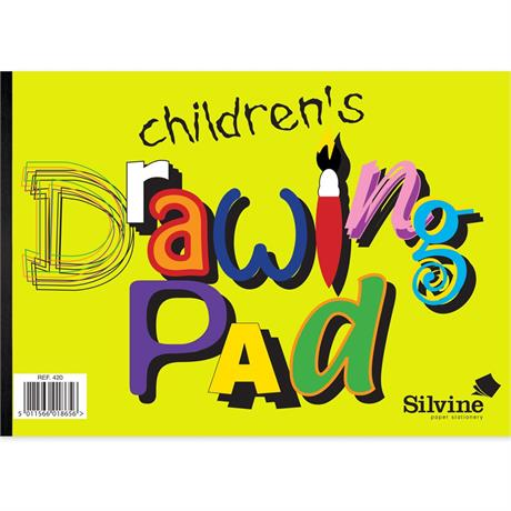 Silvine Children's A4 Drawing Pad 20 Sheets Image 1