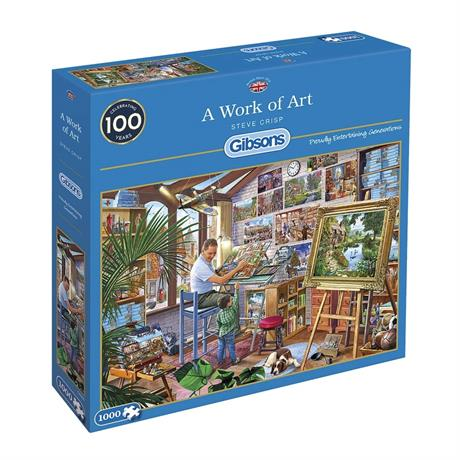 A Work of Art 1000 Piece Jigsaw Puzzle Image 1