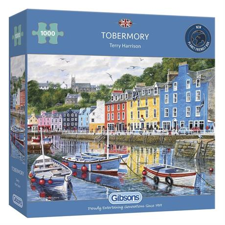 Tobermory 1000 Piece Jigsaw Puzzle Image 1