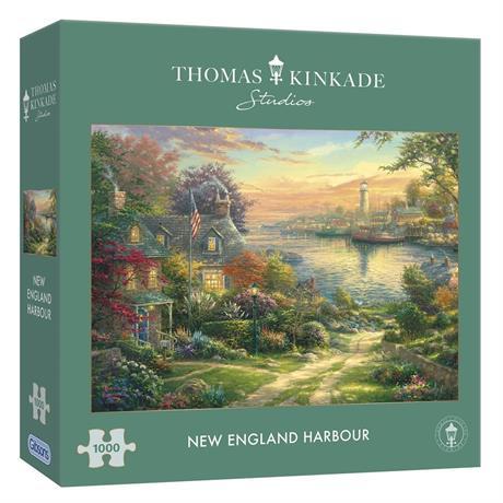New England Harbour 1000 Piece Jigsaw Puzzle (Kinkade) Image 1