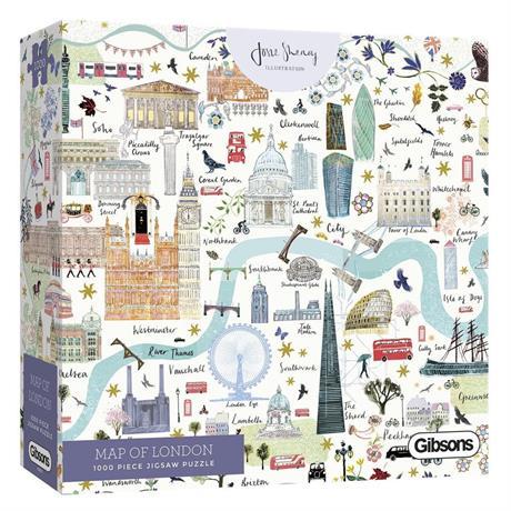 Map Of London Jigsaw 1000pc Image 1