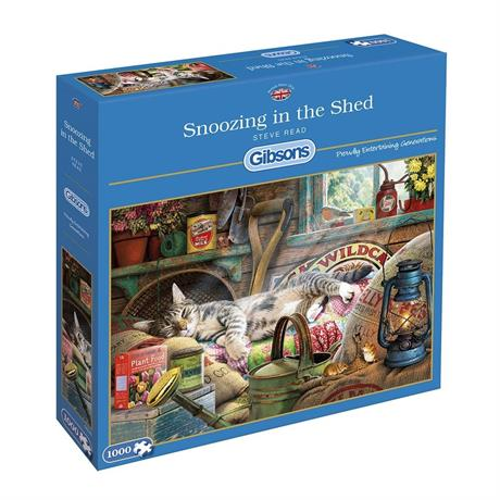 Snoozing in the Shed Jigsaw 1000pc Image 1