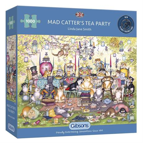 Mad Catter's Tea Party Jigsaw 1000pc Image 1