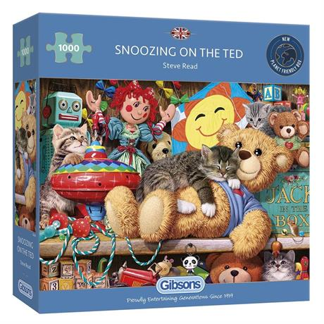 Snoozing on the Ted Jigsaw 1000pc Image 1