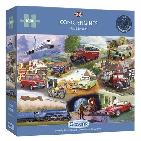 Iconic Engines Jigsaw 1000pc Image 1