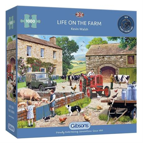 Life on the Farm Jigsaw 1000pc Image 1