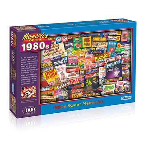 1980s Sweet Memories Jigsaw 1000pc Image 1
