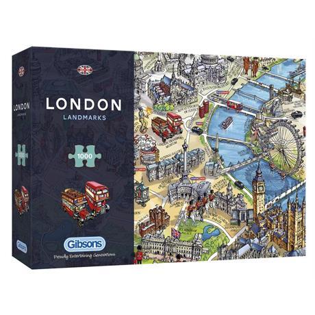 London Landmarks Jigsaw 1000pc Image 1