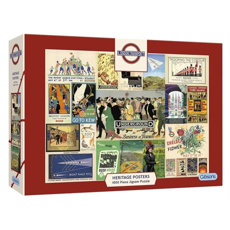 TFL Heritage Posters Jigsaw 1000pc Image 1