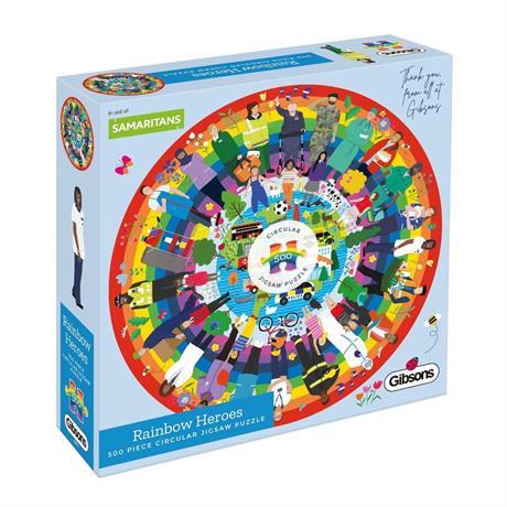 Rainbow Heroes 500 Piece Jigsaw Puzzle (CIRCULAR) Image 1
