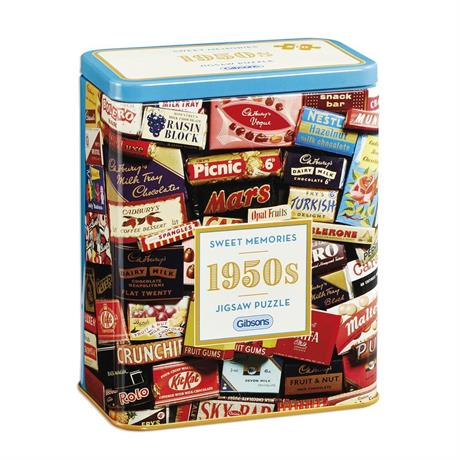1950s Sweet Memories Gift Tin - 500 Piece Jigsaw Puzzle Image 1