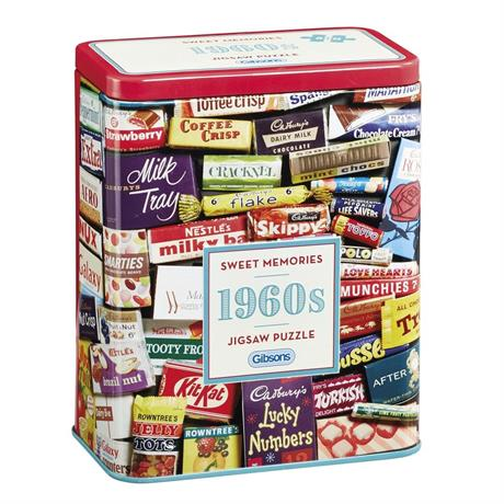 1960s Sweet Memories Gift Tin - 500 Piece Jigsaw Puzzle Image 1
