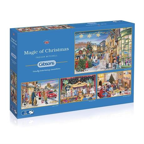 Magic of Christmas 4 x 500 Piece Jigsaw Puzzle Image 1