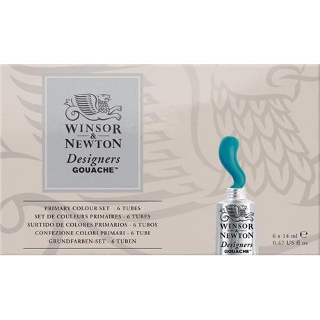 Winsor & Newton Designers' Gouache Primary Colours Set Image 1