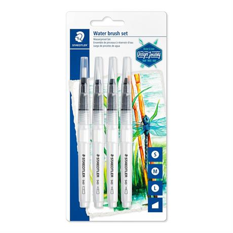 Staedtler Water Brush Set of 4 assorted Image 1