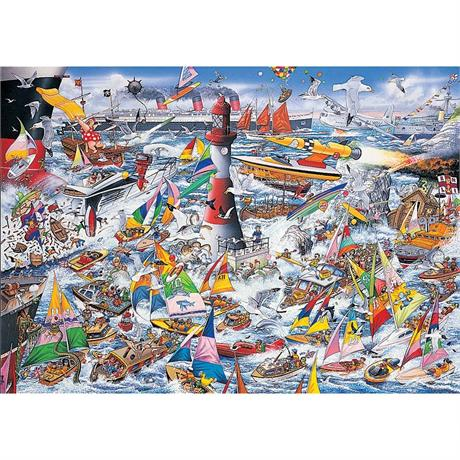 I Love Boats Jigsaw 1000pc Image 1