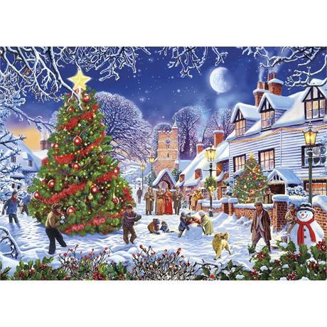 The Village Christmas Tree Jigsaw 1000pc Image 1