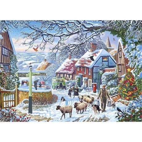 A Winter Stroll Jigsaw 1000pc Image 1