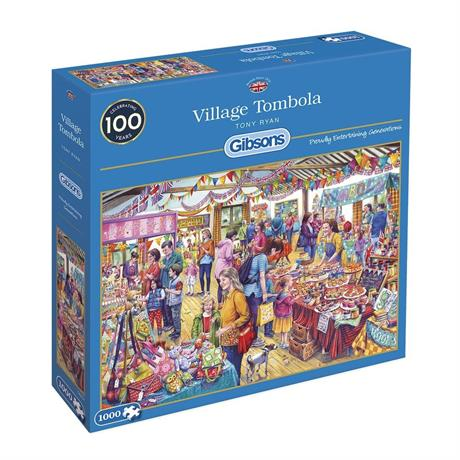 Village Tombola Jigsaw 1000pc Image 1