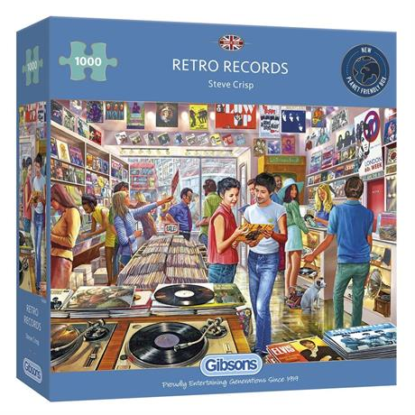 Retro Records Jigsaw 1000pc Image 1