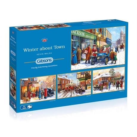 Winter about Town Jigsaw 4 x 500pc Image 1