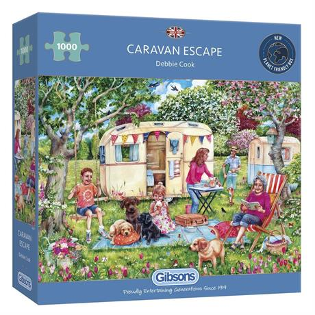 Caravan Escape Jigsaw 1000pc Image 1