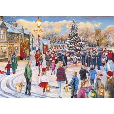 Christmas Chorus Jigsaw 1000pc Image 1