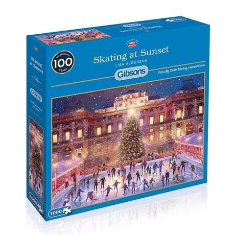 Skating at Sunset Jigsaw 1000pc Image 1