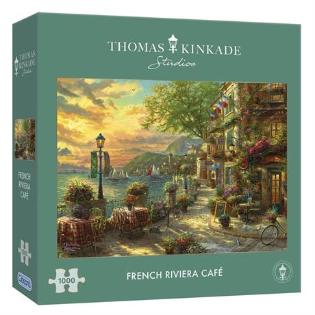 French Riviera Cafe Jigsaw 1000 pieces ( Image 1