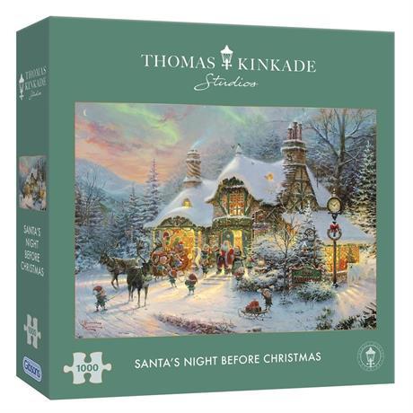 Santa's Night Before Christmas Jigsaw 1000pc (Kinkade) Image 1