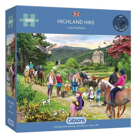 Highland Hike Jigsaw 1000pc Image 1