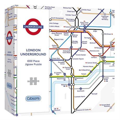 TFL London Underground Map Jigsaw 1000pc Image 1