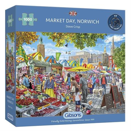 Market Day Norwich Jigsaw 1000pc Image 1