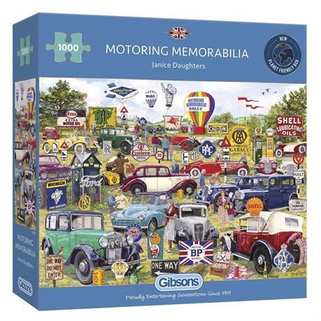 Motoring Memorabilia Jigsaw 1000pc Image 1