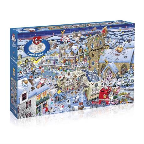 I Love Christmas  Jigsaw 1000pc Image 1