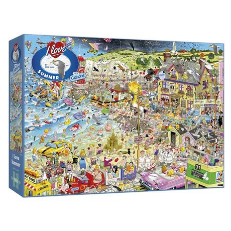 I Love Summer Jigsaw 1000pc Image 1