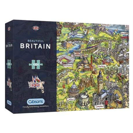 Beautiful Britain Jigsaw 1000pc Image 1